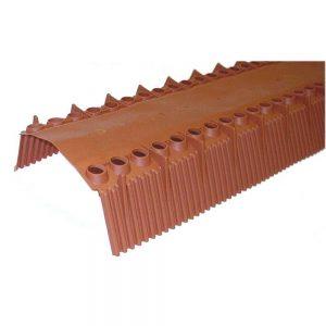 Nedsaleondervorst Air-flex Top L=100 cm 70 mm profiel rood PP