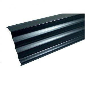 Nedsaleonderpanprofiel 150 mm / 250 cm antraciet PVC